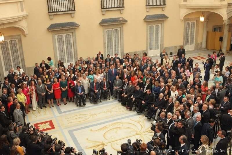 Recepció al Palau d'El Pardo 24 de juny 2014 Entitats Socials